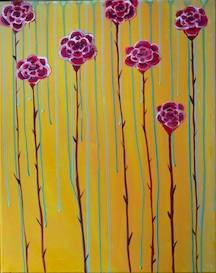 A Raining Roses paint nite project by Yaymaker