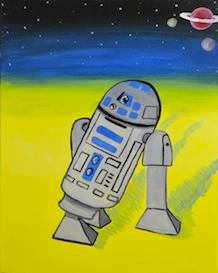 A Favorite Rolling Robot paint nite project by Yaymaker