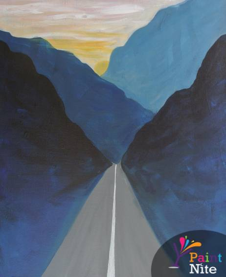 A Walk the Line paint nite project by Yaymaker