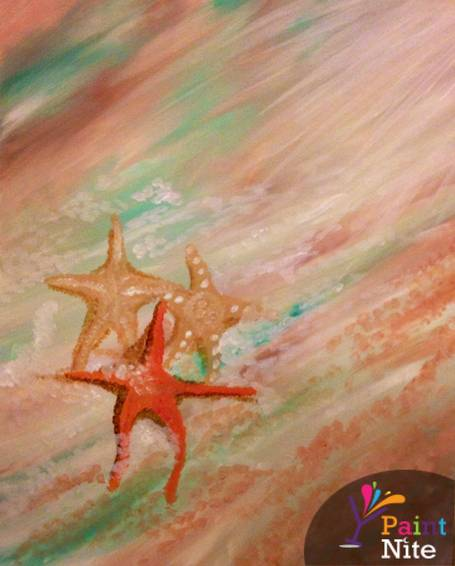 A Starfish Beach paint nite project by Yaymaker