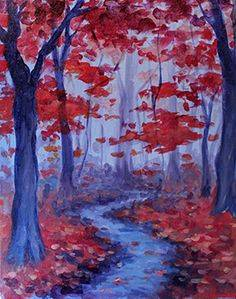 A Autumn Mood paint nite project by Yaymaker