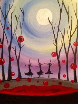A Witches Brew paint nite project by Yaymaker