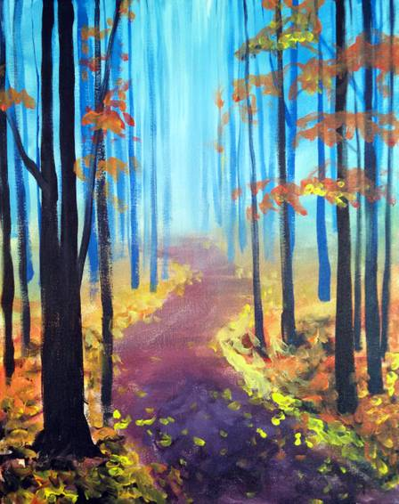 A A Walk in the Fall paint nite project by Yaymaker