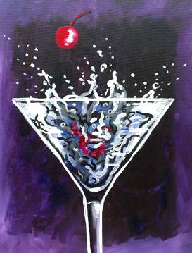 A Martini Splash paint nite project by Yaymaker