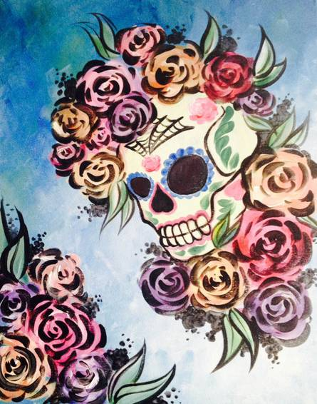 A Vintage Skull paint nite project by Yaymaker