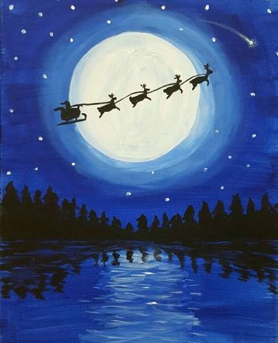 A Christmas Moonlight paint nite project by Yaymaker