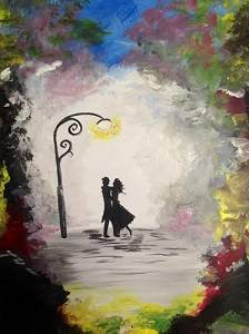 A A Dance in the Park paint nite project by Yaymaker