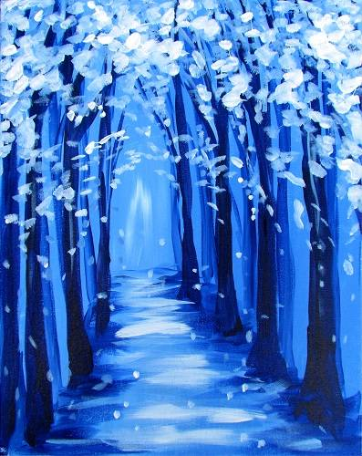 A Winter Path paint nite project by Yaymaker