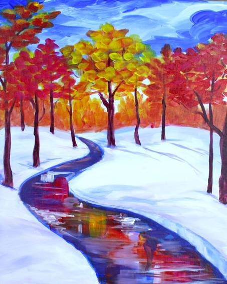 A Early Snow paint nite project by Yaymaker