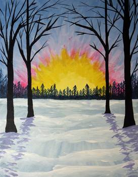 A Warm Winter Snow paint nite project by Yaymaker