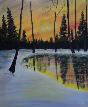 A Fire and Ice paint nite project by Yaymaker