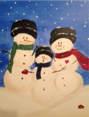 A Oh No My Mitten paint nite project by Yaymaker