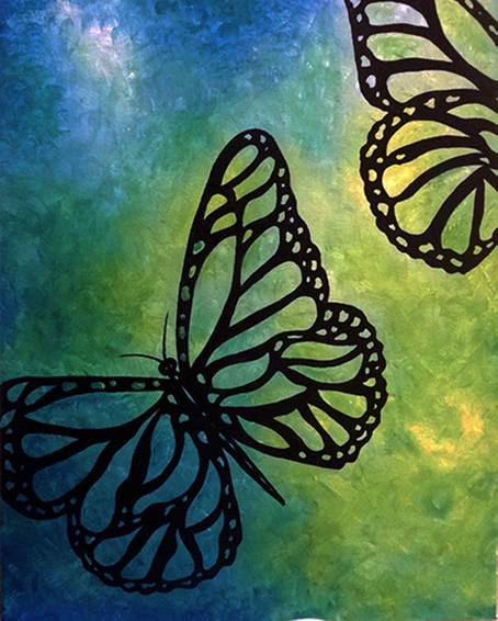A If I Were A Butterfly paint nite project by Yaymaker