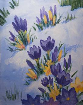 A Crocuses paint nite project by Yaymaker