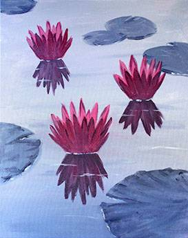 A Pink Lotus paint nite project by Yaymaker