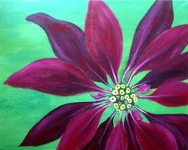 A Poinsettia paint nite project by Yaymaker