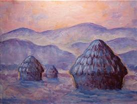 A Monet Haystacks paint nite project by Yaymaker