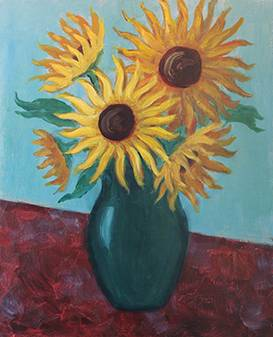 A Sunflowers 2 paint nite project by Yaymaker