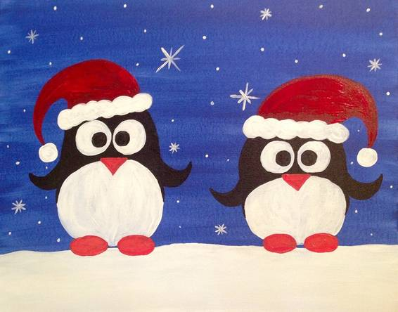 A Santas Little Helpers paint nite project by Yaymaker