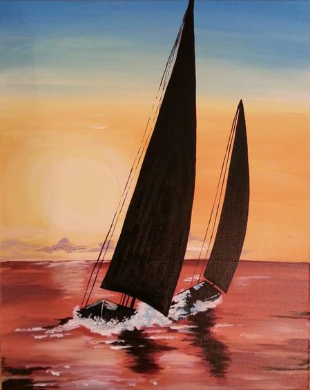 A Sail the Red Sea paint nite project by Yaymaker