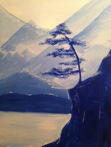 A Blue Chill paint nite project by Yaymaker