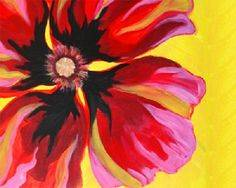 A Poppin Poppy paint nite project by Yaymaker