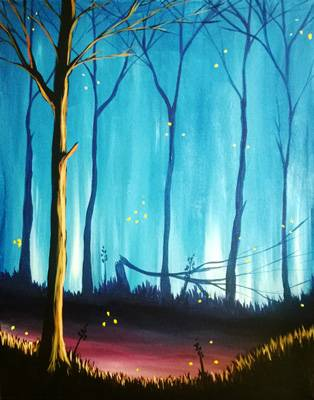 A Vibrant Twilight paint nite project by Yaymaker