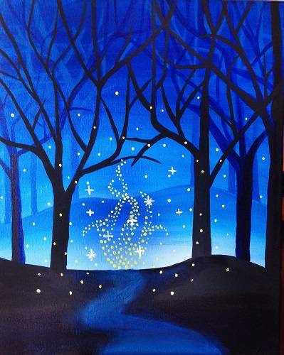 A Enchanted Forest paint nite project by Yaymaker