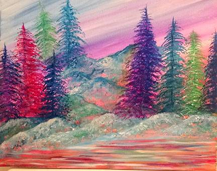 A Divine Pines paint nite project by Yaymaker