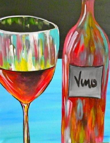A Red Red Wine paint nite project by Yaymaker