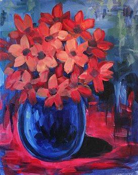 A Orange Bouquet paint nite project by Yaymaker