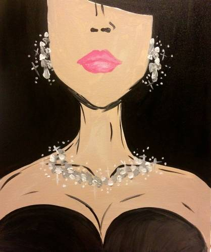 A Diamonds Are A Girls Best Friend paint nite project by Yaymaker