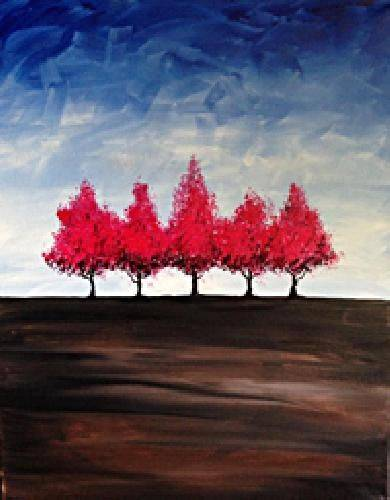 A Trees In The Distance paint nite project by Yaymaker