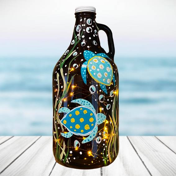 A Under The Sea Turtle Growler and Fairy Lights experience project by Yaymaker