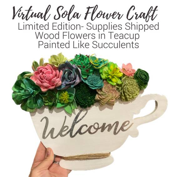 A Virtual Sola Wood Flowers  Teacup Supplies Shipped to Door experience project by Yaymaker