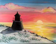 A Sunrise in the Snow paint nite project by Yaymaker