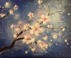 A Monets Blossoms paint nite project by Yaymaker