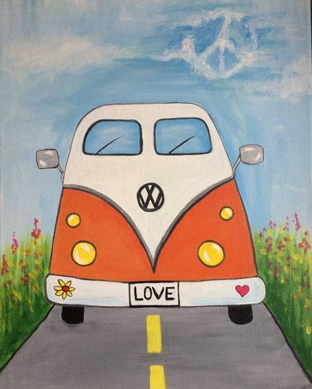 A Love Bug paint nite project by Yaymaker