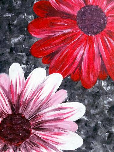 A BYoutiful Blooms paint nite project by Yaymaker