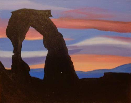 A Utah Delicate Arch paint nite project by Yaymaker