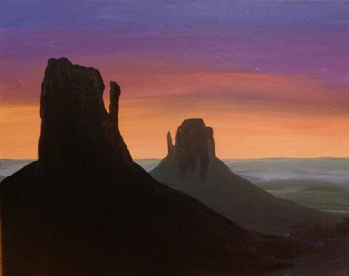 A Utah Monument Valley paint nite project by Yaymaker