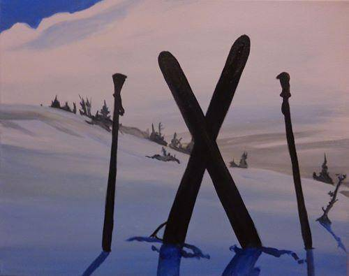 A Ski All Day paint nite project by Yaymaker