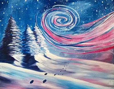 A Winter Wind paint nite project by Yaymaker