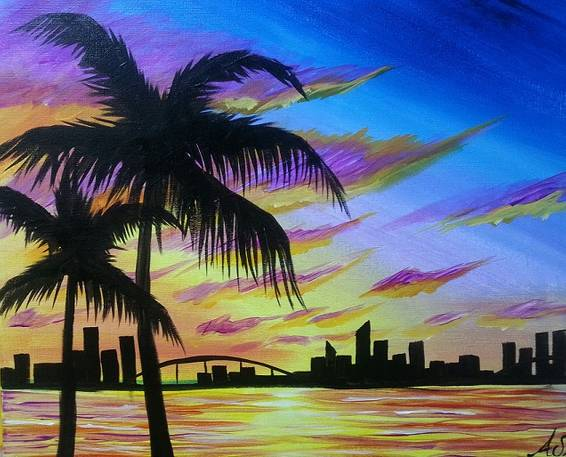 A Tropical Metropolis paint nite project by Yaymaker