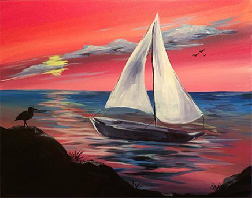 A Paradise Cove paint nite project by Yaymaker