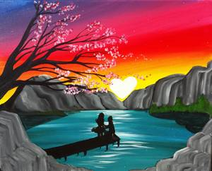A Lake of Love paint nite project by Yaymaker