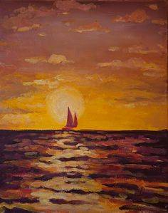 A Sailboat 2 paint nite project by Yaymaker