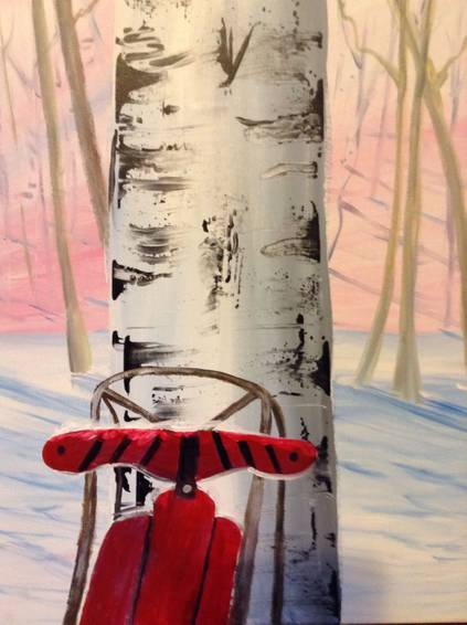 A Winter Fun paint nite project by Yaymaker