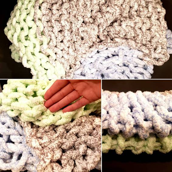 A Kids chunky blanket workshop experience project by Yaymaker