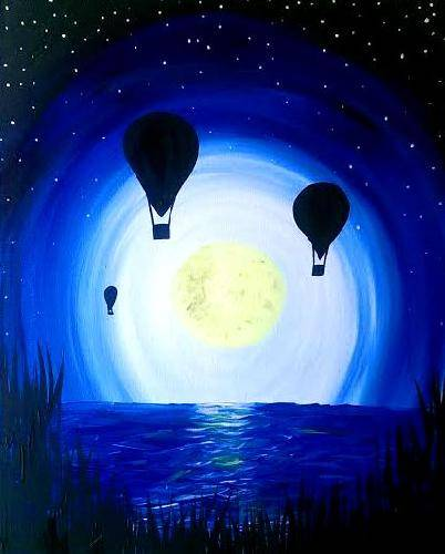 A Night Flight paint nite project by Yaymaker